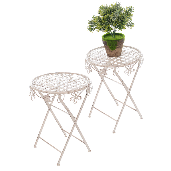 Столик металлический Белый ажур 40*50 см PL08-5624