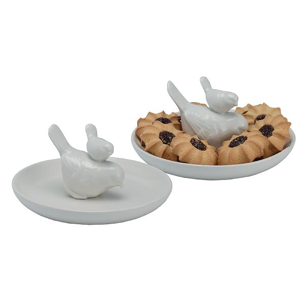 Тарелка с воробушками