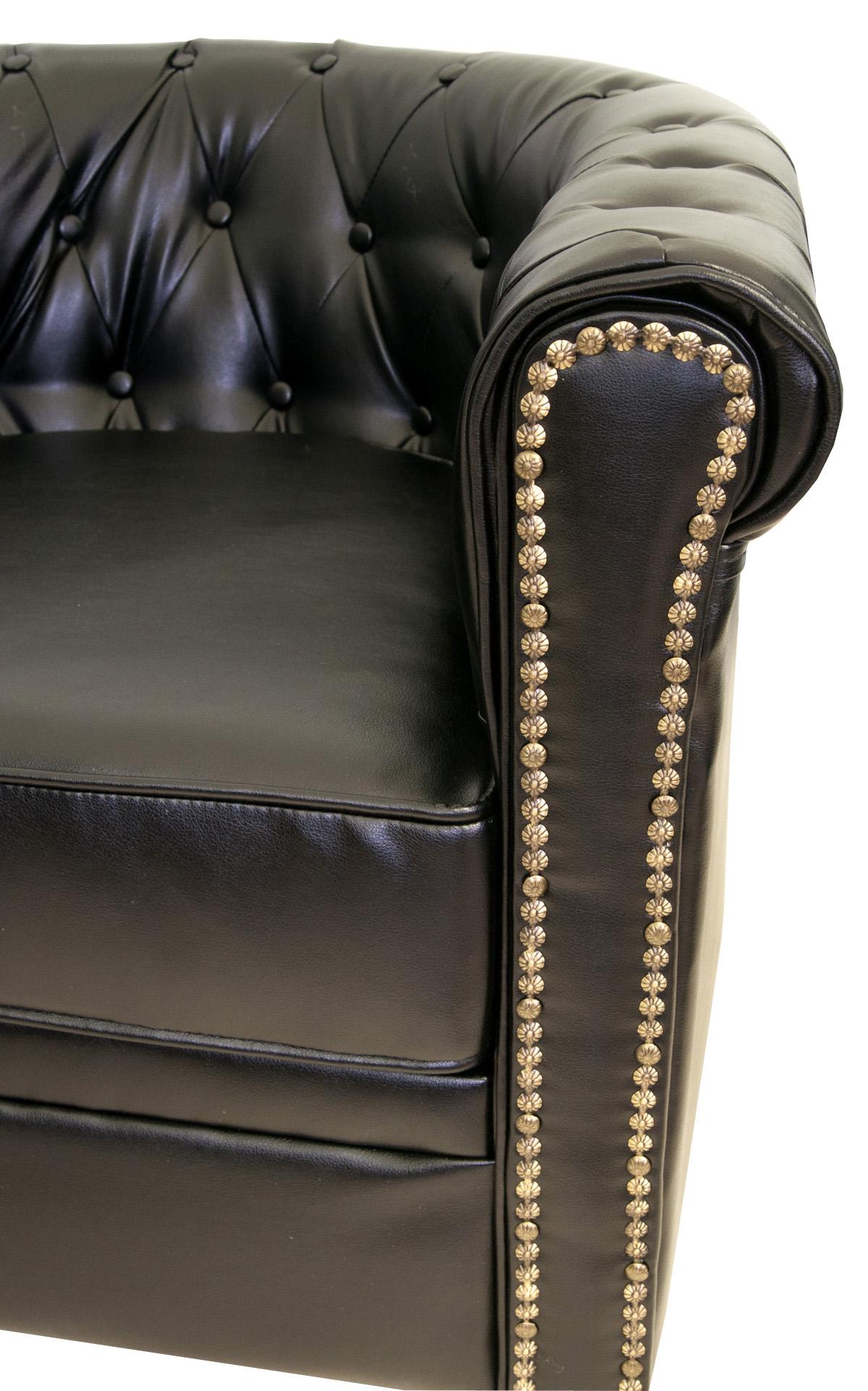 Кожаный двухместный диван Karo