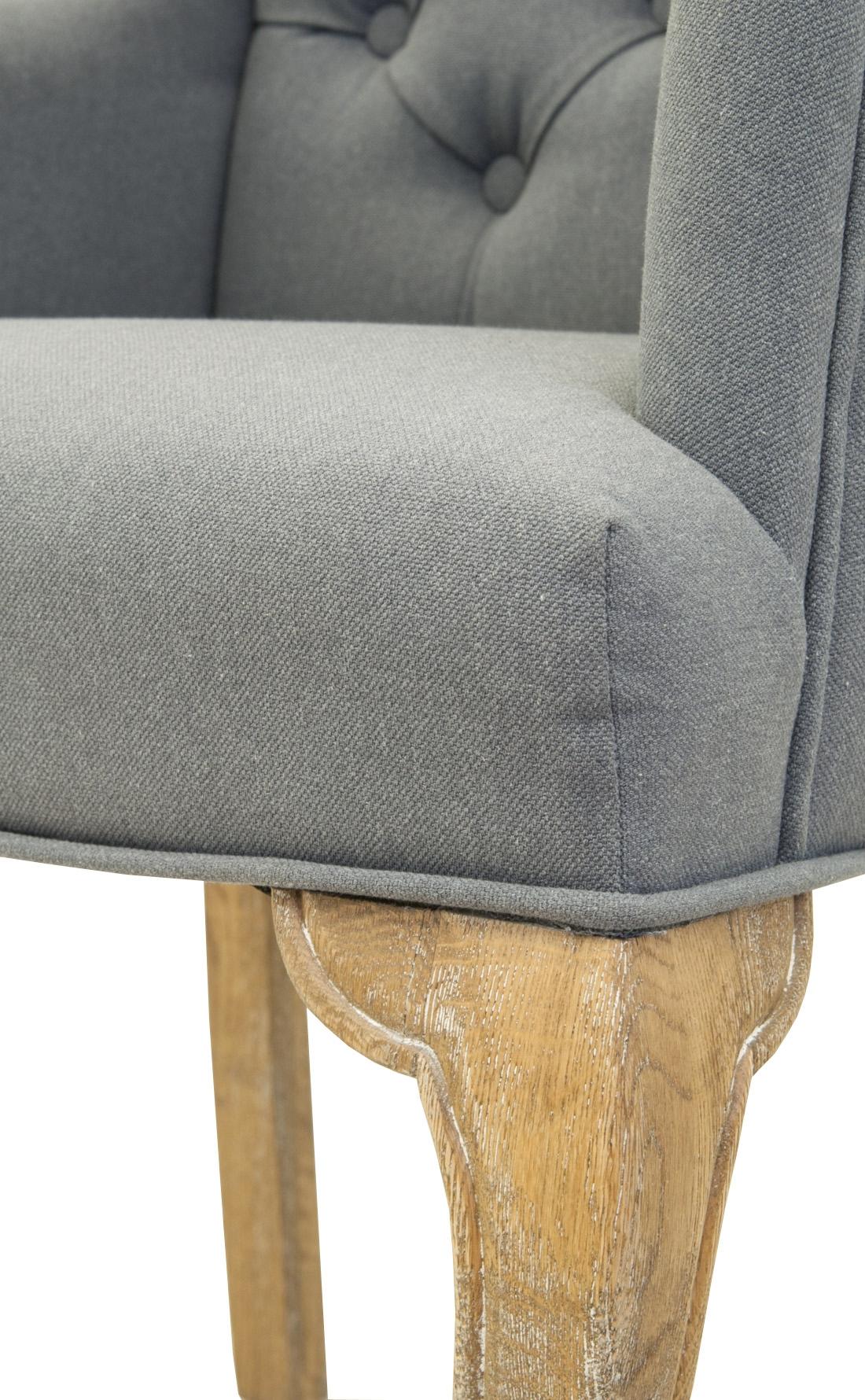 Классическое кресло Deron grey
