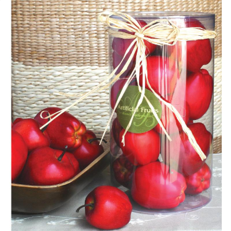 Муляж красных яблок в пластиковой упаковке, 27800