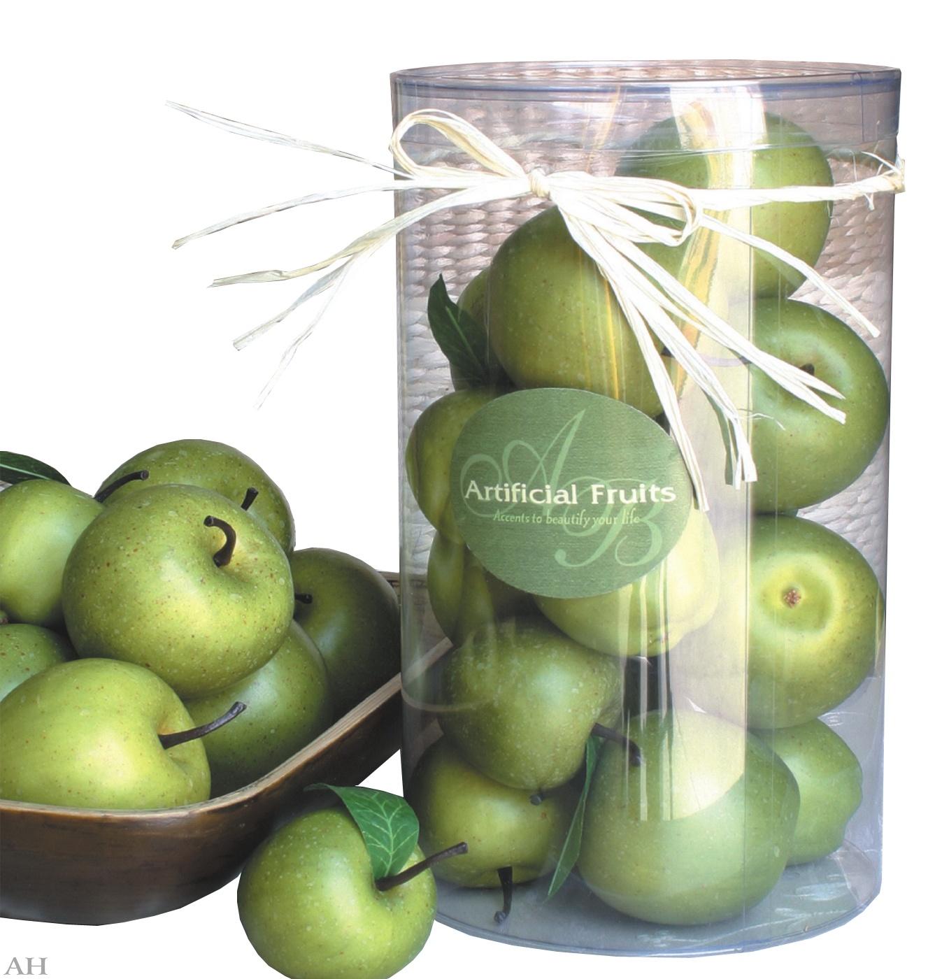 Муляж зеленых яблок в упаковке, 27801