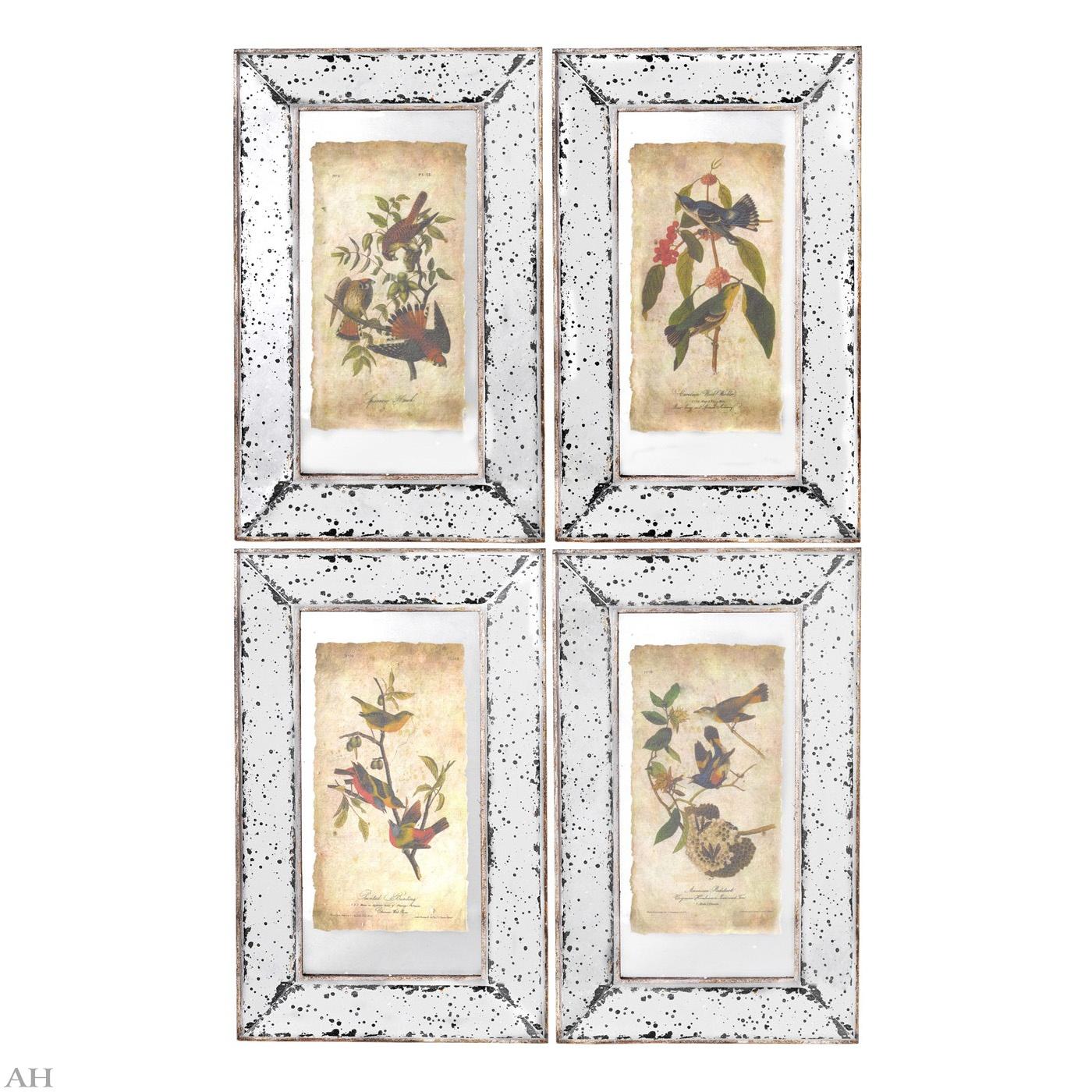 Набор панно настенных декоративных с зеркальным покрытием  4шт. 30355