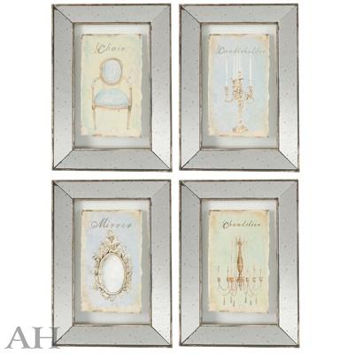 Набор панно настенных декоративных с зеркальным покрытием  4шт. 32840