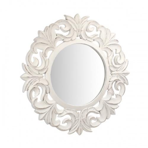 Зеркало в белой раме из полистоуна AN08-0001