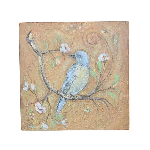 Панно голубая птица 20х20 FR0507