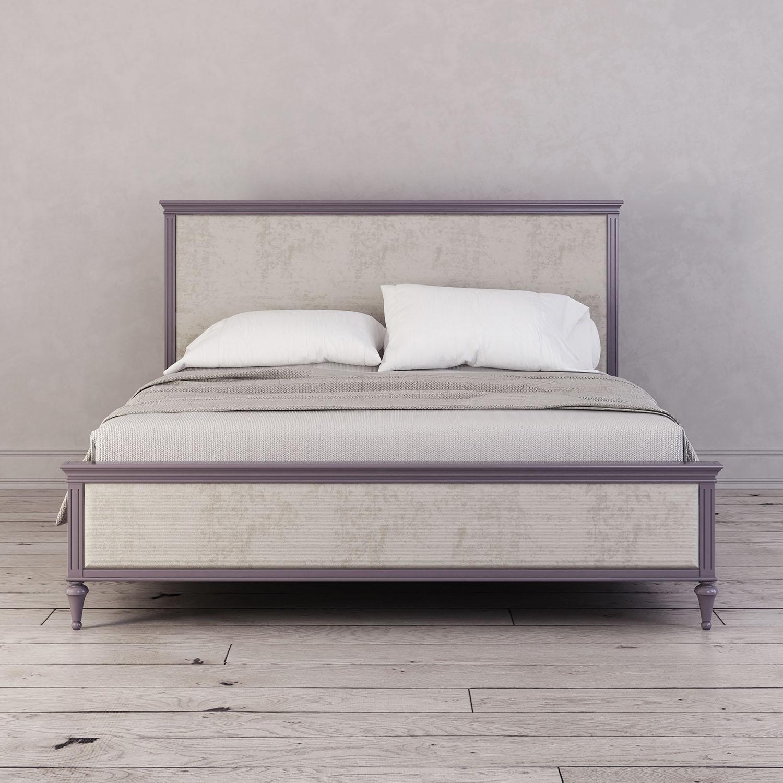 Кровать с мягким изголовьем 160*200 Riverdi, орхидея