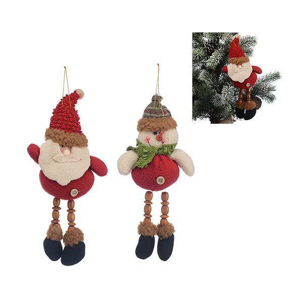 Новогодняя Подвеска Улыбчивые Дед Мороз и Снеговик