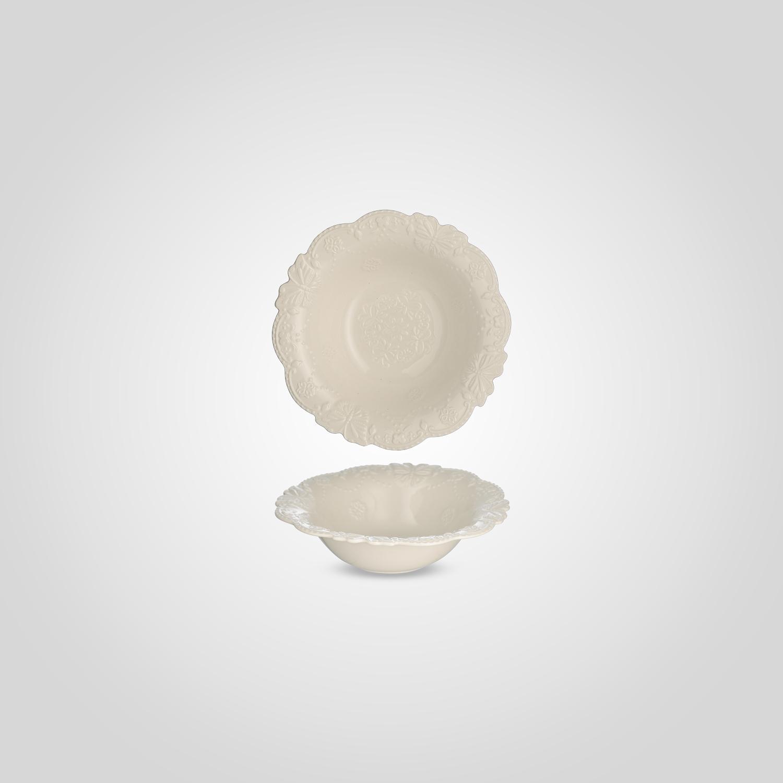 Тарелка керамическая Суповая Белая