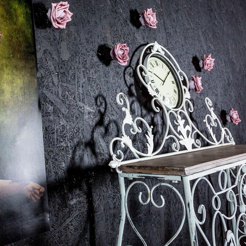 Консоль «Королевская лилия» (белый антик, версия М)