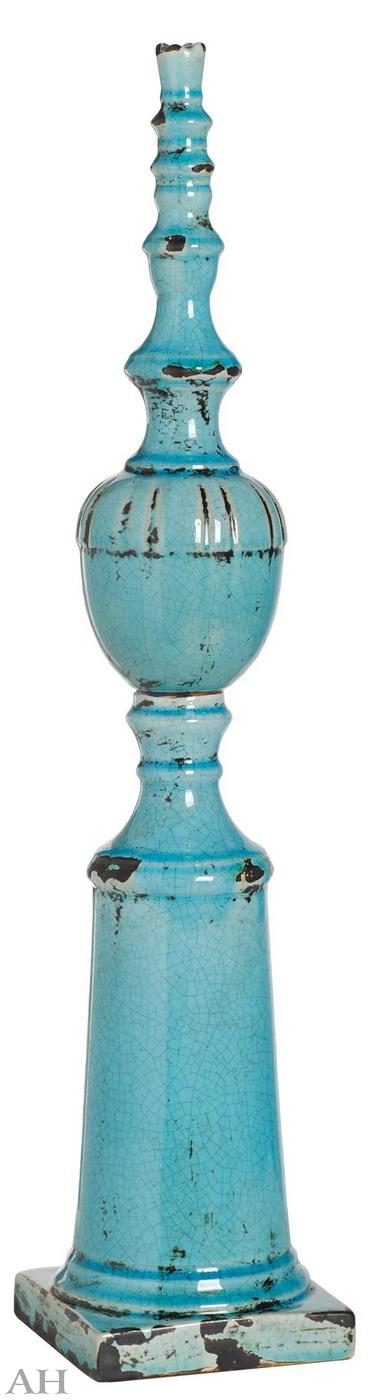 Сосуд керамический D14 см х 63,5 см, 66645-BLUE