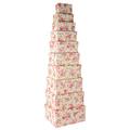 Набор коробок бежевая роза ( из 10 шт.) 21593-3