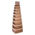 Набор коробок коричневый ( из 10 шт.) 21593-4