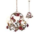 Люстра металлическая Красный цветок SD0680/5