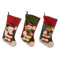 Новогодний носочек Морозные друзья (от 3х штук) 93142A/B/C