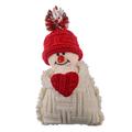 Новогодний снеговик Сердце
