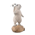 Фигурка декор Кролик и ромашка LK7553W