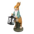 Фигурка декор Кролик профессор с фонарем