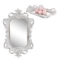 Поднос зеркальный (полистоун) Белый ретро