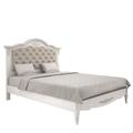 Кровать 140*200 с мягким изголовьем Belverom (белая)