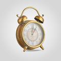 Часы-Будильник Металлические Золотой Век