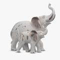 Мама-Слон со Слоненком (Полистоун)