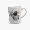 Чашка керамическая Королевский кролик с золотистыми крыльями