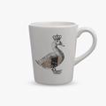 Чашка керамическая Королевская уточка с золотистыми крыльями