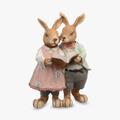 Кролики Пара Читающие (Полистоун)