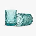 Бокал для Воды Арабский бирюзовый орнамент 300 ml (набор 6шт)