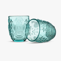 Стакан для Воды Яркий Бирюзовый Королевский 300 ml (набор 6шт)