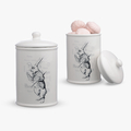 Банка для сыпучих (керамика) Кролик
