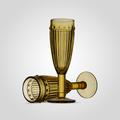 Бокал Стеклянный для Шампанского Желтый (от 6 штук)