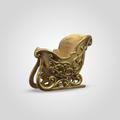 Сани Золотистые Декоративные (Полистоун)