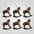 Новогодняя Елочная Подвеска-Лошадка (Полистоун, 6 штук)