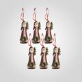 Елочная Подвеска-Дед Мороз (Полистоун, 6 штук)
