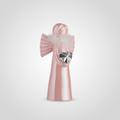 Ангел Керамический Декоративный Розовый в Перьях (2 шт.)