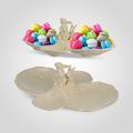 Конфетница с кроликами фарфоровая Крем де ла крем