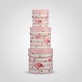 Набор из Трех Круглых Розовых Подарочных Коробок