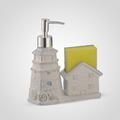 Керамический Диспенсер-Домик для Мыла/Жидкости для Мытья Посуды Белый