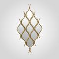 Зеркальное Интерьерное Золотистое Панно-Ромб 100х52 см (Металл)