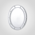 Зеркало Овальное Белое