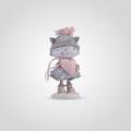 Зимняя Кошечка с Сердечком (Полистоун)