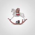 Лошадка-Качалка Новогодняя с Мишками Малая (Полистоун, набор 2 шт)