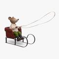 Мышонок на Новогодних Санях (Полистоун)