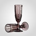 Бокал для Шампанского Стеклянный Сиреневый