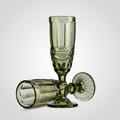 Бокал для Шампанского Стеклянный Зеленый