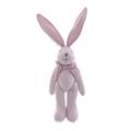 Мягкая игрушка кролик в полоску розовый (30см) AM10130-3