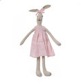 Кролик девочка в розовом платье с бантиком 35см L1203501B