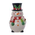 Банка декор Новогодний снеговик T151574